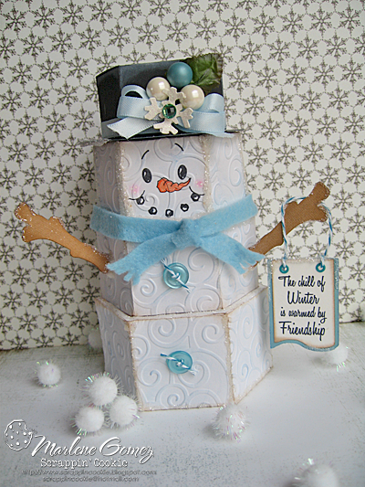 3D Stacked Snowman
