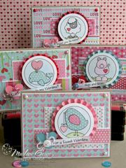 Whimsie Doodles Valentine Card Set