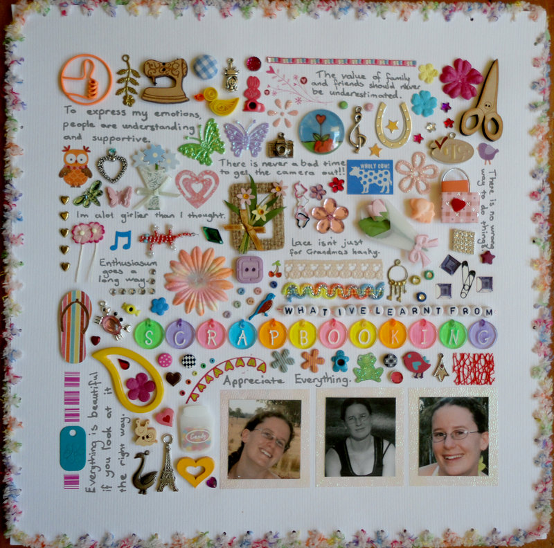 What I've learnt from Scrapbooking