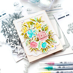 Full Bloom Happy Birthday card