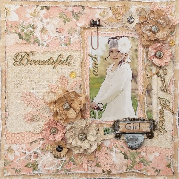 Beautiful and Sweet Girl layout for ***Cheery Lynn Designs***
