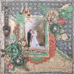 True Love Never Grows Old Layout for ***Cheery Lynn Designs***