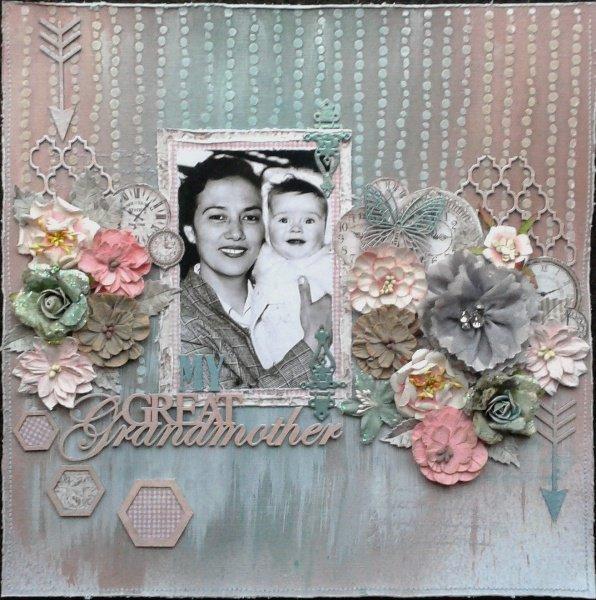 Great Grandmother ***Lindy's Stamp Gang and Imaginarium Designs blog hop***