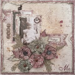 Vintage Me layout for ***Cheery Lynn Designs***