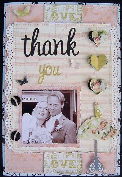 Thank you card * In Love * by webster's pages