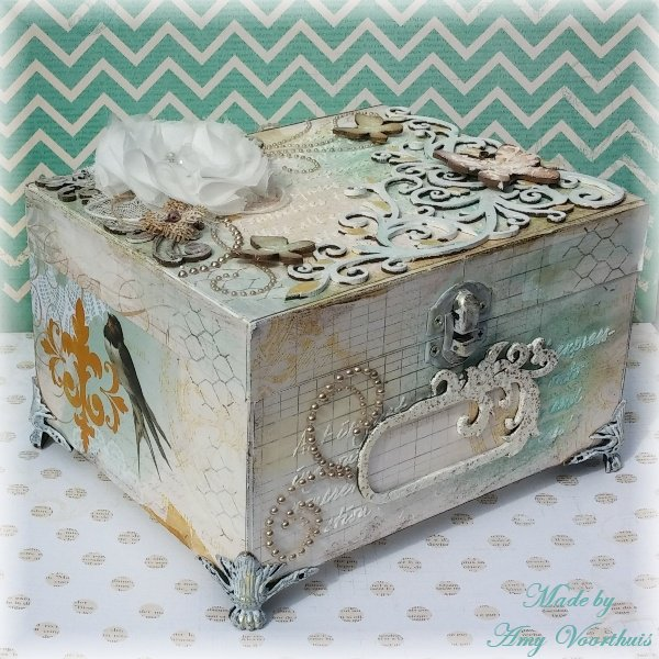 A button box **BoBunny** papers