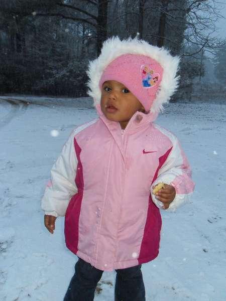 Ashanti's first snow