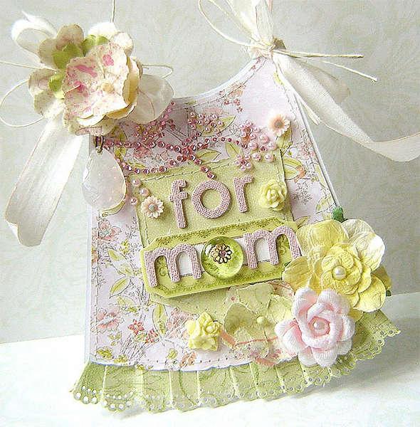 {For Mom} - apron shape card *NEW Prima*