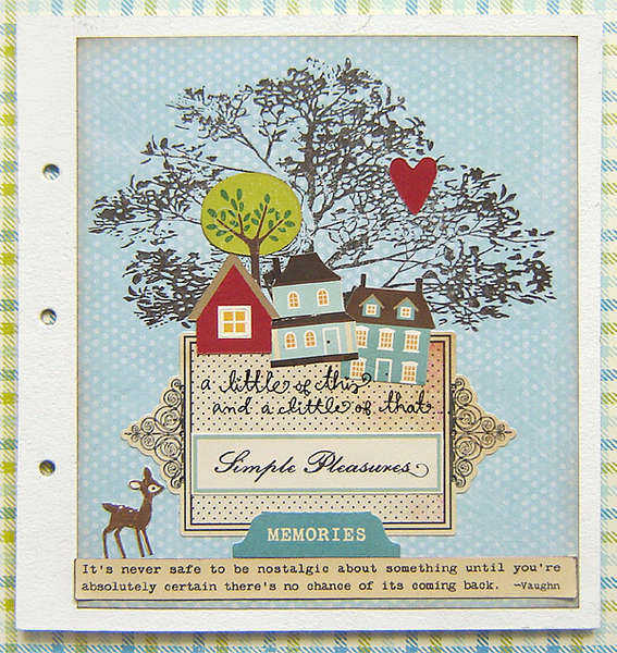 {My Tree} art journal page