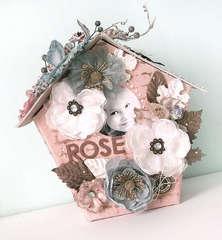 {Rose} - Canvas Birdhouse Album *Prima*