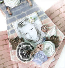 {Rose} - Canvas Birdhouse Album *Prima*