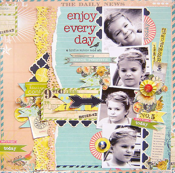 {Enjoy Every day} *Pink Paislee*