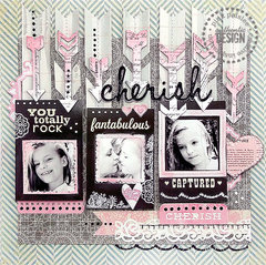 {Cherish} layout * Pink Paislee*