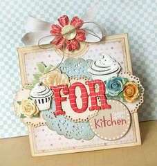 {For Queen of the Kitchen} card