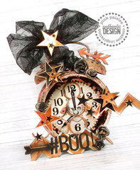 Halloween altered clock * Pink Paislee*