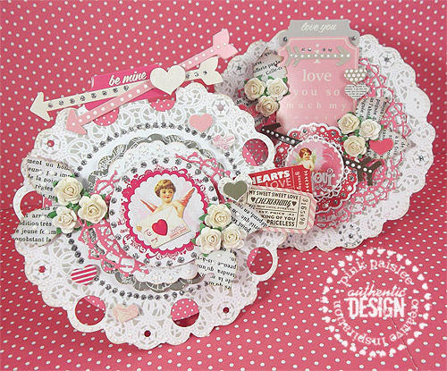 Valentine Doily Cards *Pink Paislee*