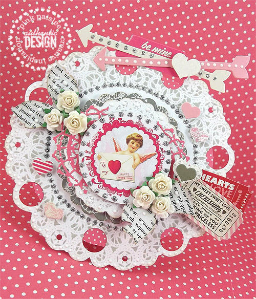 Valentine Doily Card 1 *Pink Paislee*