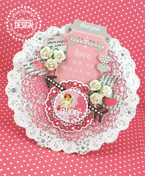Valentine Doily Card 2 *Pink Paislee*