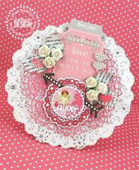 Valentine Doily Card 2 *Pink Paislee*