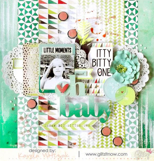 {Oh baby} layout * Glitz Design*