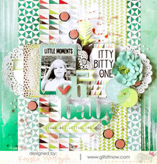 {Oh baby} layout * Glitz Design*