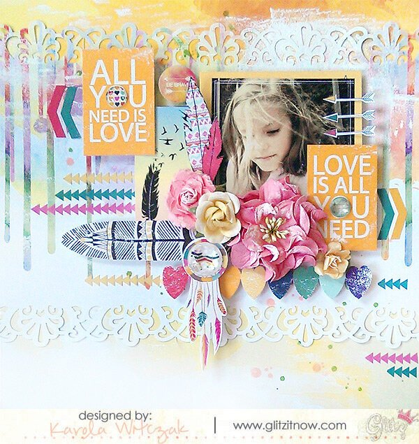 {All you need is love} layout * Glitz Design*