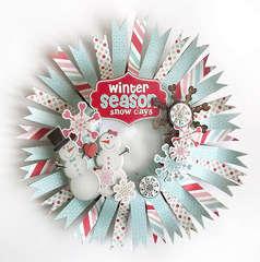 {Winter Wreath} *Pink Paislee*
