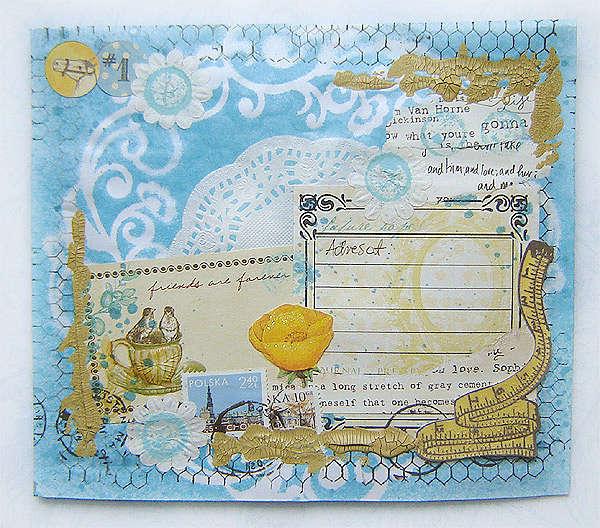 Altered envelope - mail art