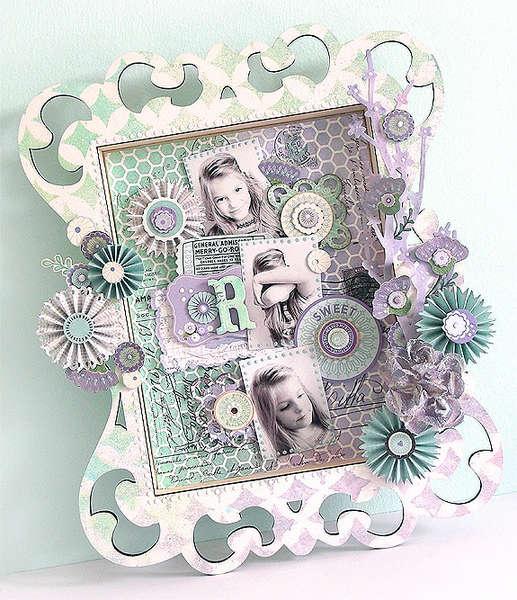 {Sweet} Wooden Shadowbox *Pink Paislee*