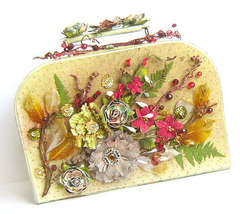 Christmas suitcase - home decor *Prima*