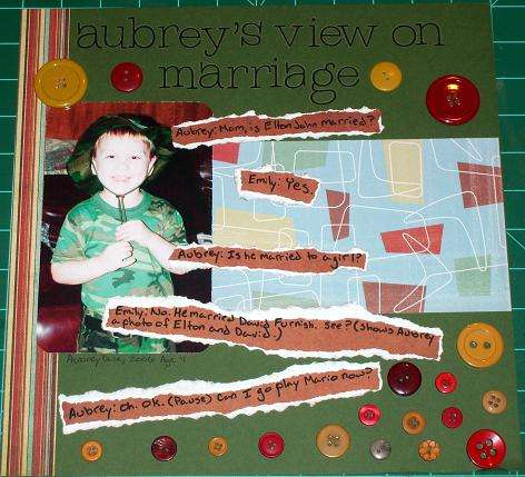Aubrey's View On Marriage