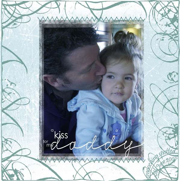 a kiss for my daddy