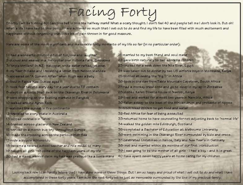 Facing Forty