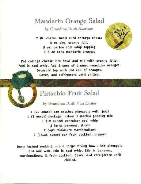 Cookbook Fruit Salads