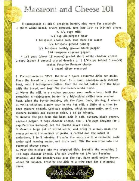 Cookbook Pasta Macaroni and Cheese
