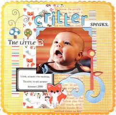The little CRITTER speaks.