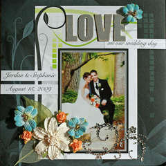 LOVE on our wedding day