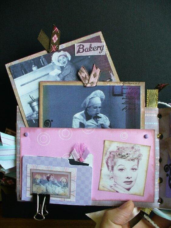 Inside I love Lucy paperbag album