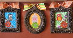 Trio of Birds Home Decor Frames
