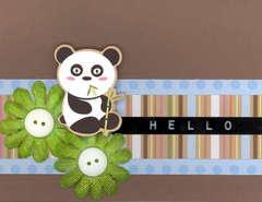 NEW IMAGINISCE Hello Panda Card