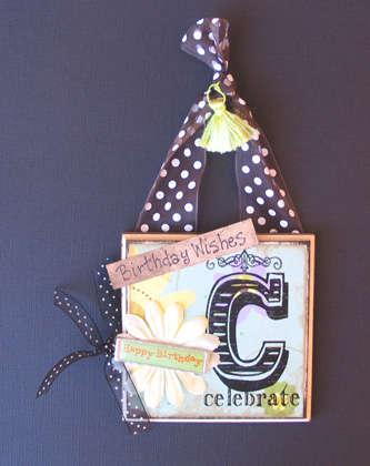 Celebrate Mini Plaque