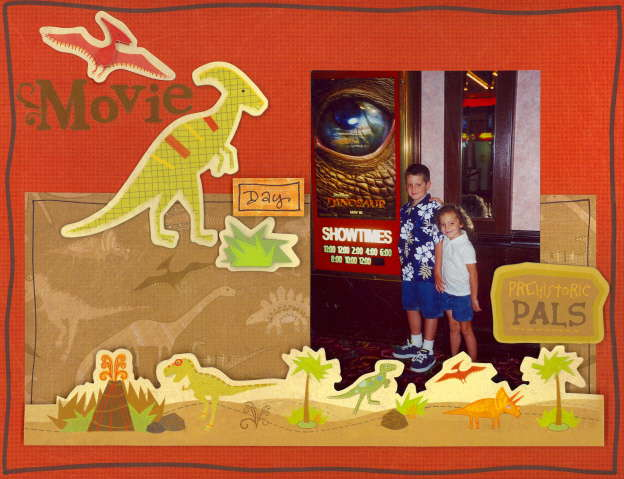Imaginisce Dino Roar Collection Movie Day Layout