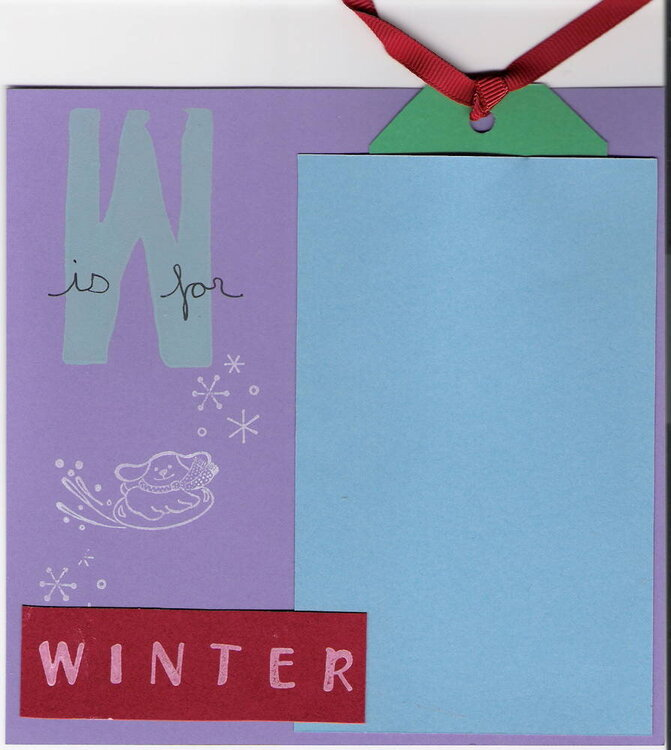 W is for Winter - ABC TODDLER SWAP