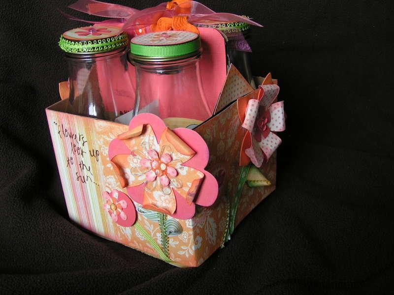 Altered Frap Box and Bottles