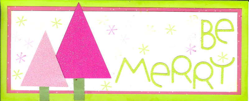 Be Merry Retro Card