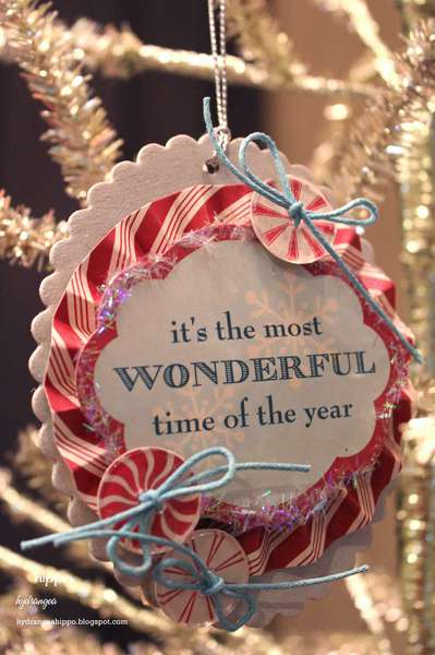 """Wonderful"" Christmas Ornament * Epiphany Crafts DT *"