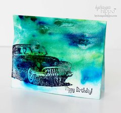 Happy Birthday Masculine Card with Izink