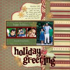 Holiday Greeting - Our 2008 Christmas Photo Card