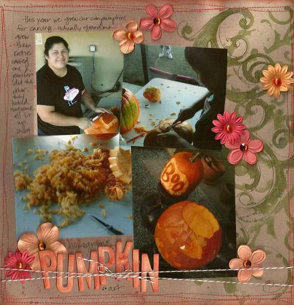 """Homegrown Pumpkin Artist"" for Tattered Angels Educator Blog Jan 2010"