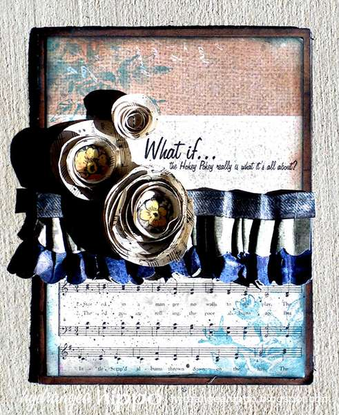 Hokey Pokey Card *Donna Salazar Products * and *Epiphany Crafts*